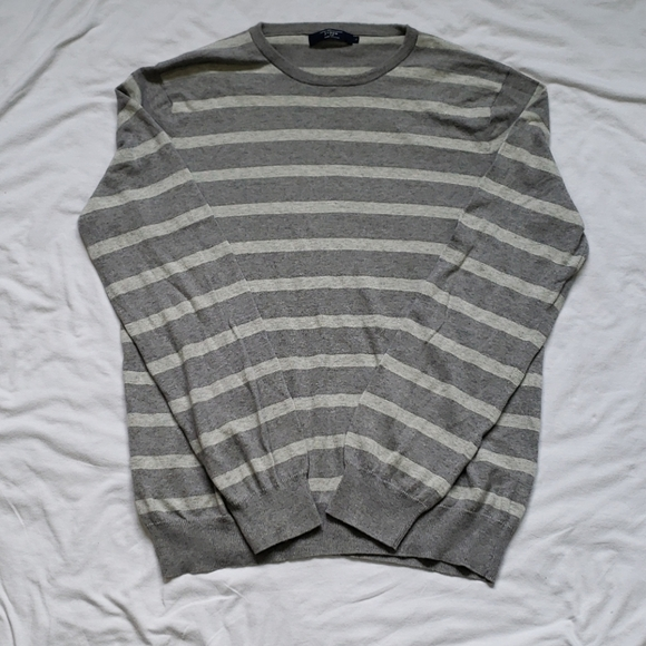 J Crew Cotton Cashmere Striped Sweater Mens Size L